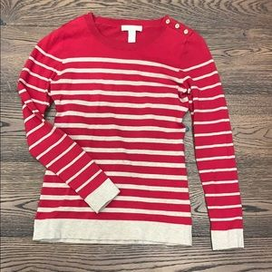 Banana Republic | Red and tan striped sweater